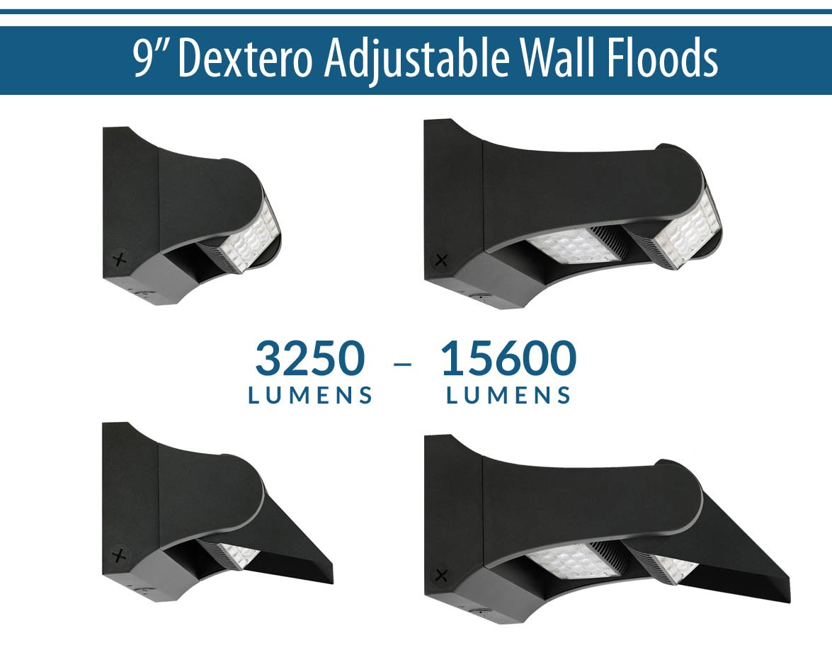 "9"" Dextero Adjustable Wall Floods"