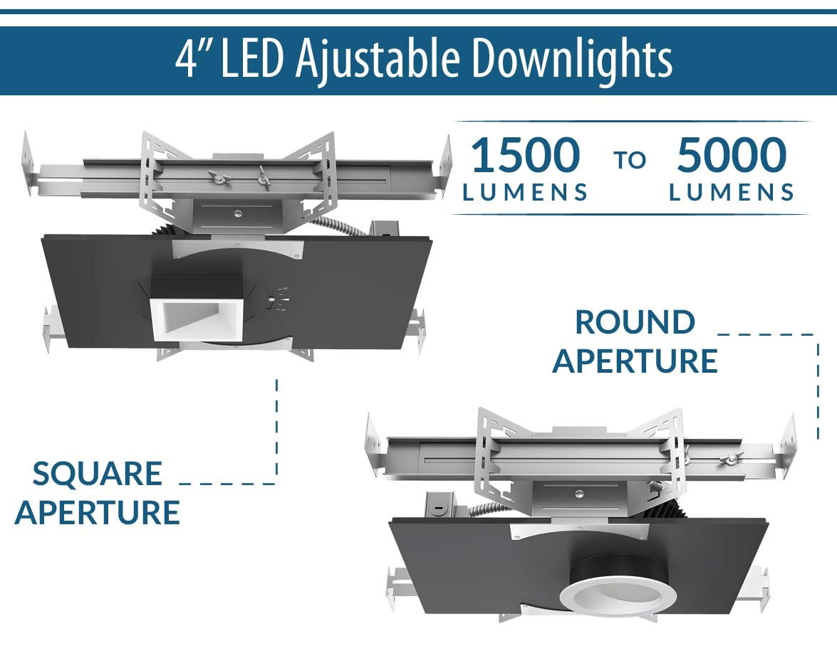 "4"" LED Adjustable Downlights"