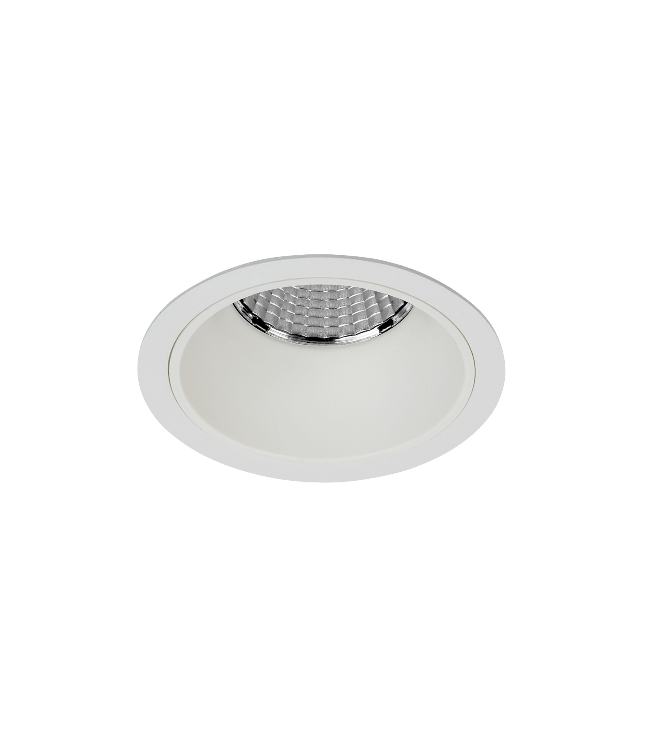 "2.5"" Shallow Round Flanged Fixed Downlight"