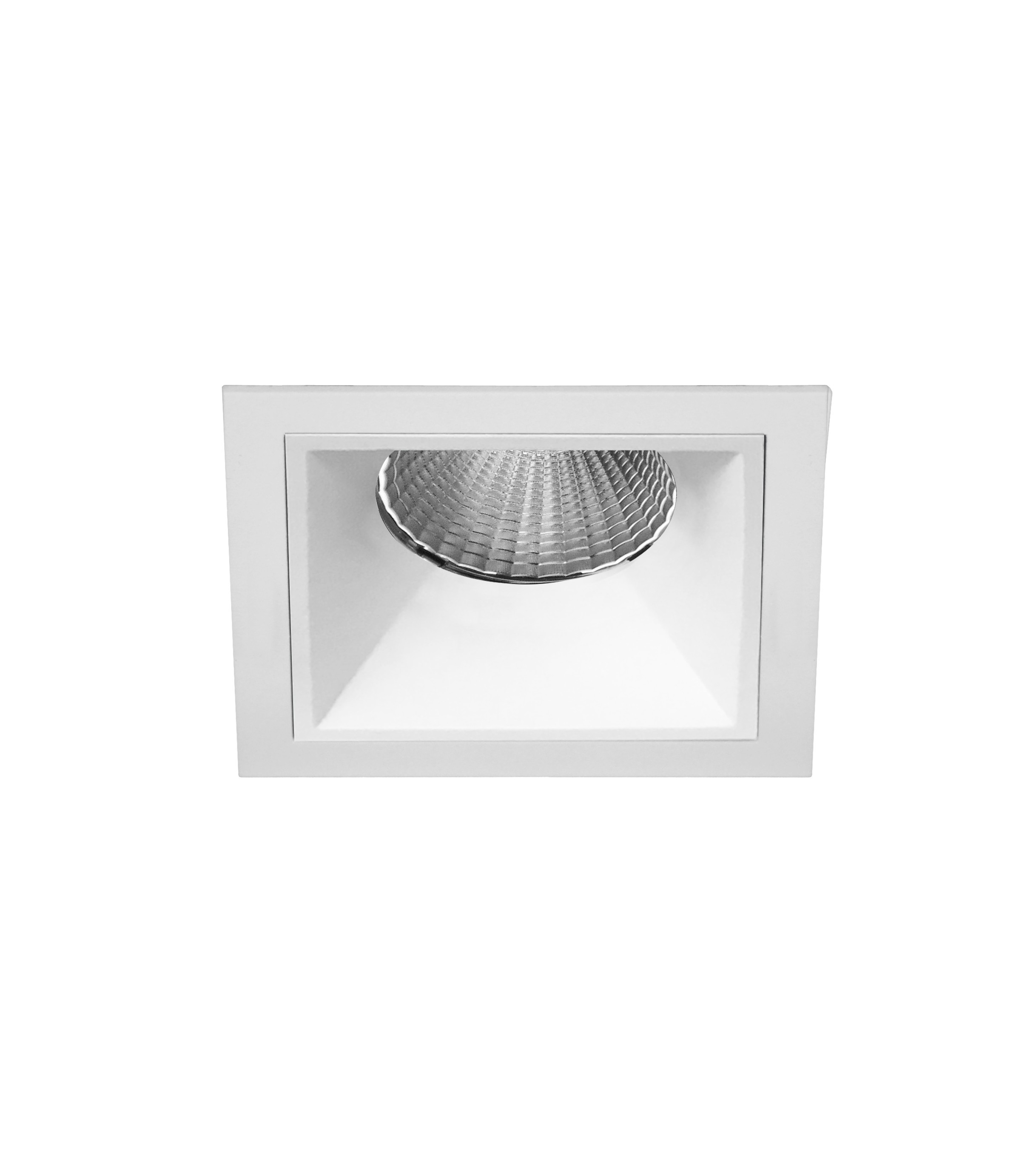 "2.5"" Shallow Square Flanged Fixed Downlight"
