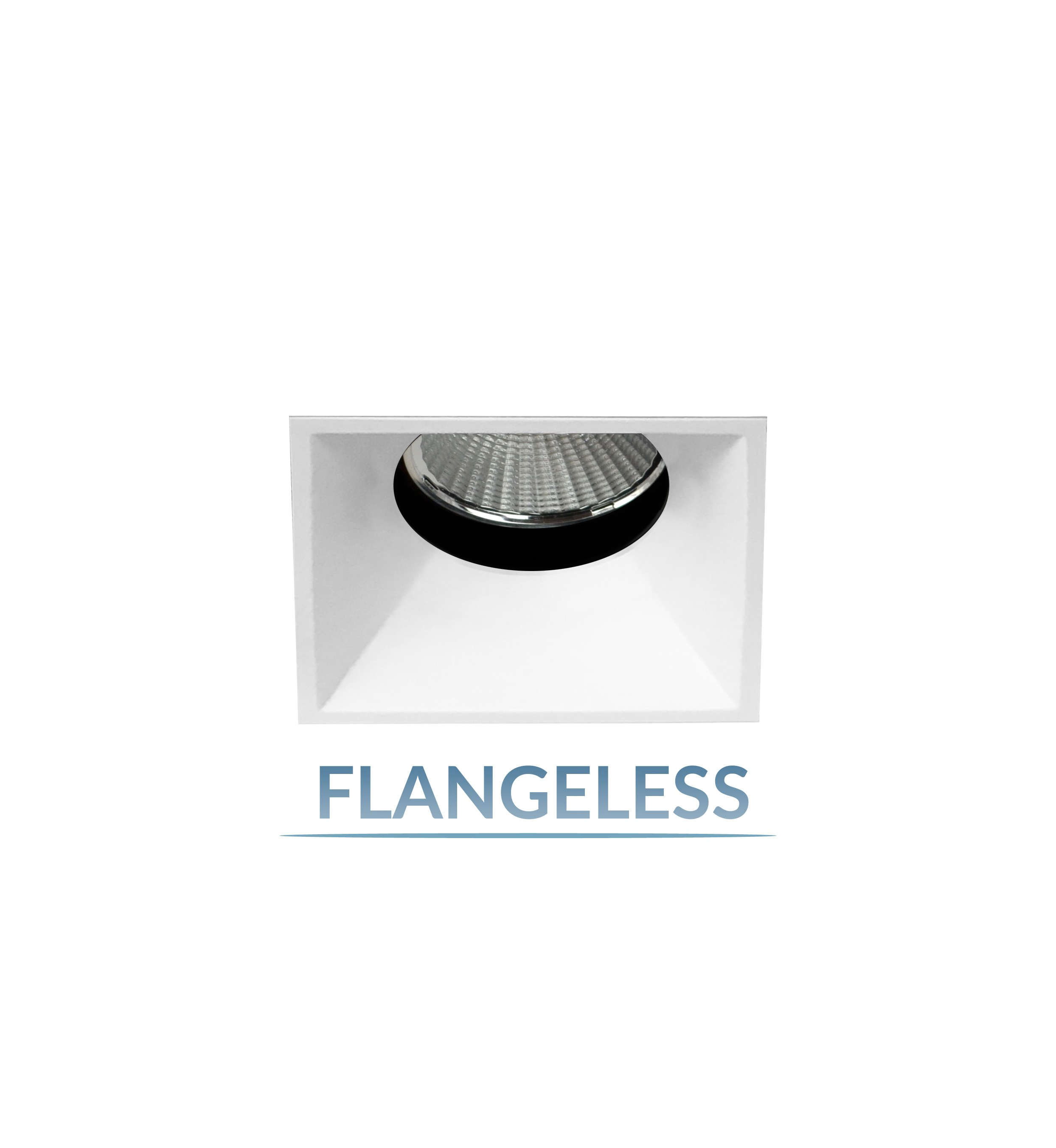 "2.5"" Precision 1000lm/1400lm Square Flangeless Fixed Downlight"