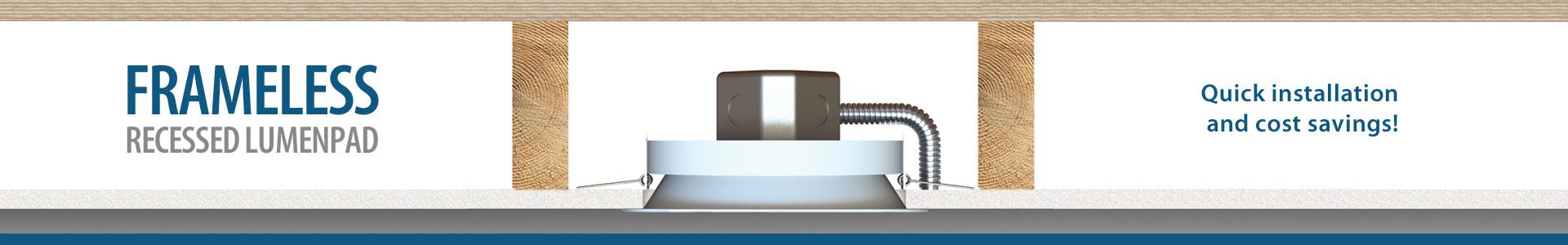 Liton | LCRMPD7R | 8 Round LumenPad Recessed LED Downlight - 1400lm