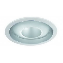 "6"" CFL Deco Glass Open Dome Reflector"