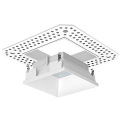 "3"" LED/MR16 Square Trimless Lensed Reflector"