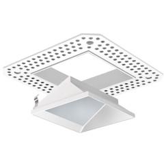 "3"" LED/MR16 Square Trimless Lensed Wall Wash/Sloped"