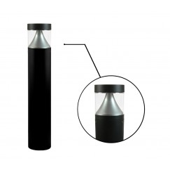 "7"" LED Round Bollard - Cone Reflector (Flat Top)"