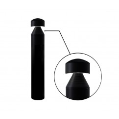 "7"" LED Round Bollard - Pyramid (Round Top)"