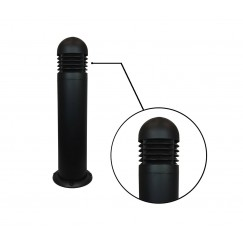 "7"" LED Round Bollard - Die Cast Aluminum Louvers (Round Top)"