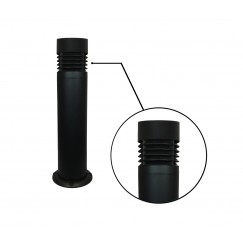 "7"" LED Round Bollard - Die Cast Aluminum Louvers (Flat Top)"