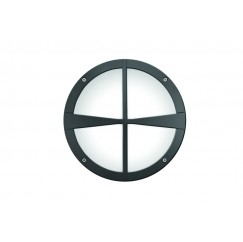 "10"" Round Decorative Cross Bar Wall Luminaire"