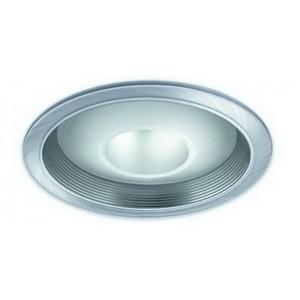 "6"" CFL Deco Glass Open Dome Baffle"