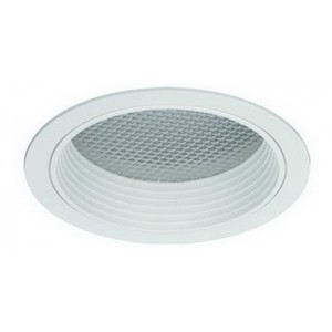 "6"" CFL/A19 Prismatic Glass Lens w/ Baffle"