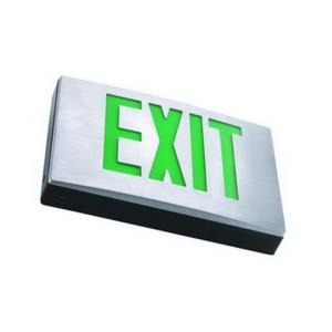 Aluminum LED Exit Sign - No Battery