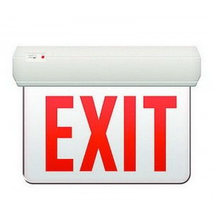 Transparent Surface Exit Sign w/ Battery