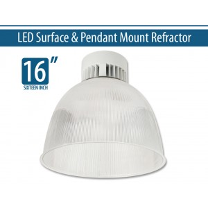 "16"" LED Surface & Pendant Mount Refractor (2600-6000lm)"