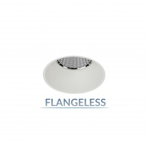 "2.5"" Shallow Round Flangeless Fixed Downlight"