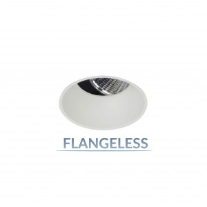 """2.5"""" Precision 1000lm/1400lm Round Flangeless 25° Adjustable Accent"""