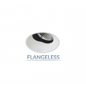 "2.5"" Precision 1000lm/1400lm Round Flangeless 40° Adjustable Accent"