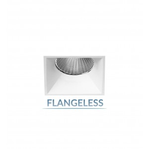 "2.5"" Shallow Square Flangeless Fixed Downlight"