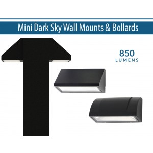 "8"" x 5"" Miniature Dark Sky Wall Mounts and Bollards"